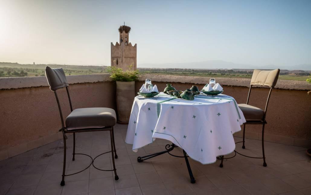 Terrasse, Riad Ouarzazate